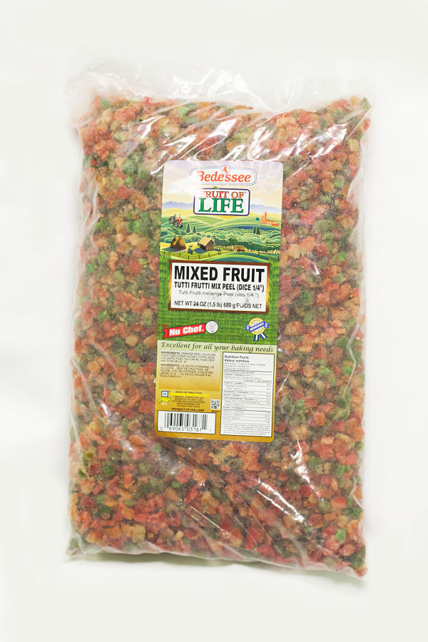 Nu Chef 5 lb Mixed Citrus Peel (Tutti Fruitti)-0